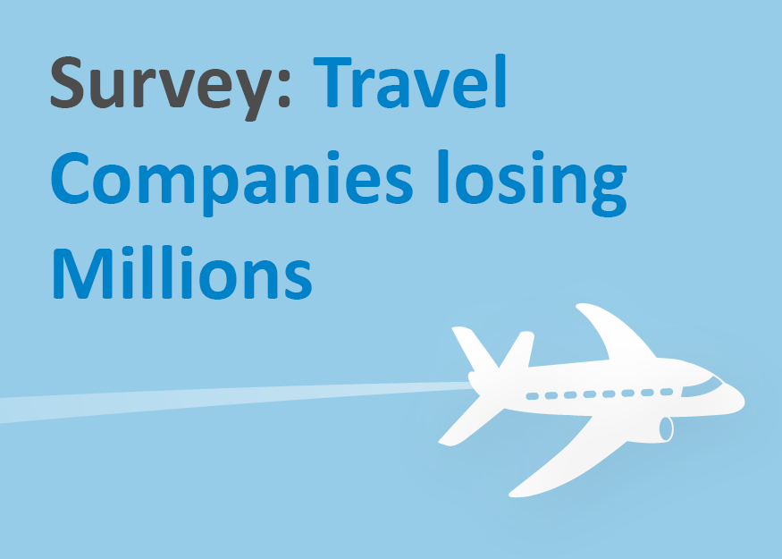 Survey Travel Companies losing Millions