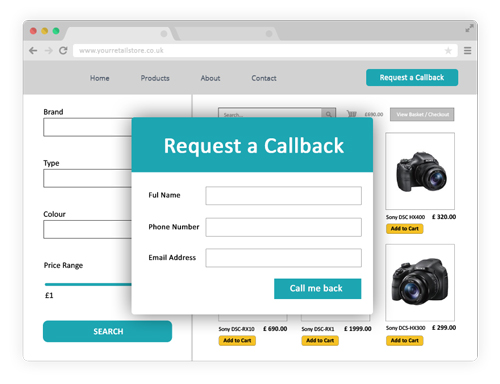 Request a callback / click to call