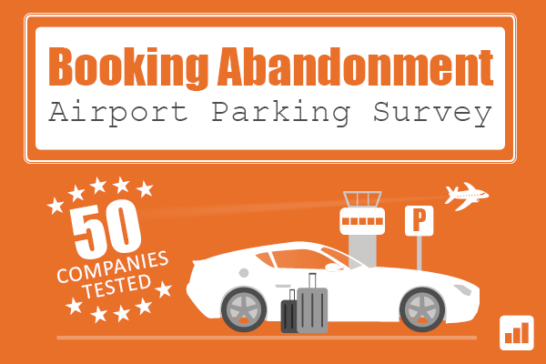 Booking Abandonment - Airport Parking Survey - 50 companies tested